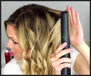 Creating Beach Waves Using a Flat Iron