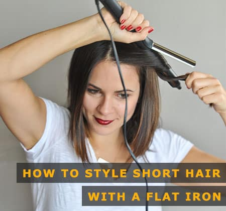 Featured Image of How to Style Short Hair With a Flat Iron