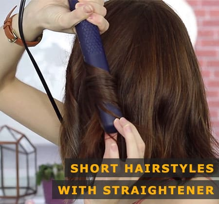 Featured Image of Short Hairstyles With Straightener
