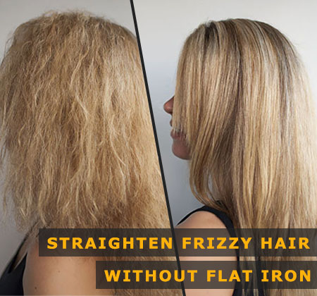 Featured Image of Straighten Frizzy Hair Without Flat Iron