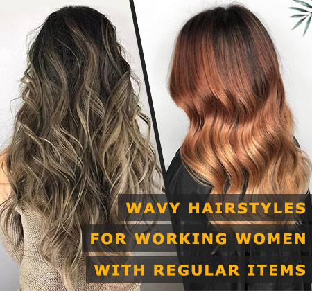 Featured Image of Wavy Hairstyles for Working Women With Regular Items