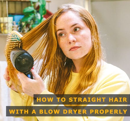 Featured Image of How to Straight Hair With a Blow Dryer Properly