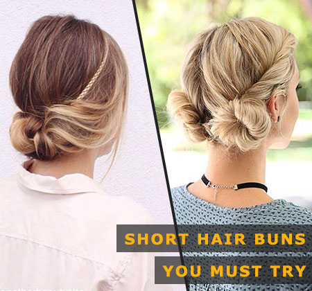 Featured Image of Short Hair Buns You Must Try