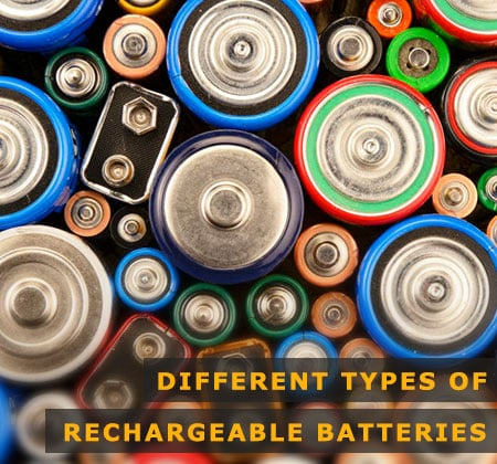 Featured Image of Different Types of Rechargeable Batteries