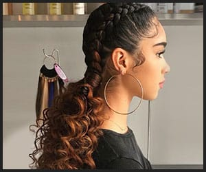 Curly Ponytails With Braids