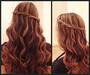 Face Framing Braids With Loose Soft Waves