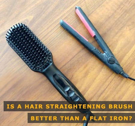 Featured Image of is a Hair Straightening Brush Better Than a Flat Iron