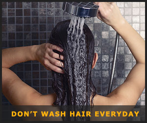 Don't Wash Hair Frequently
