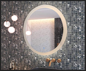 CO-Z Dimmable Round LED Bathroom Mirror - Big INS1004