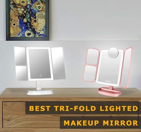 Featured Image of Best Tri-fold Lighted Makeup Mirror