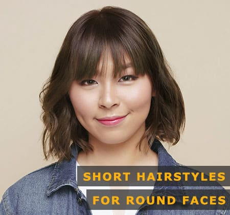 Featured Image of Short Hairstyles for Round Faces