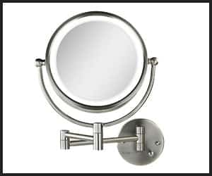 Ovente Wall Mounted Vanity Makeup Mirror - Big INS1003