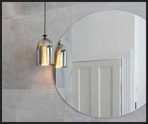 Hanging Light Bulbs on a Bathroom Mirror