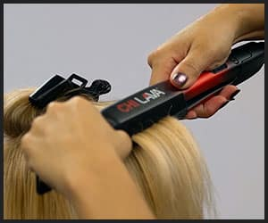 Styling Hair With Chi Volcanic Lava Ceramic Flat Iron