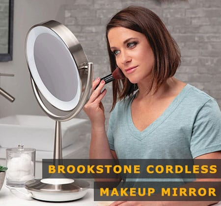 Featured Image of Brookstone Cordless Makeup Mirror