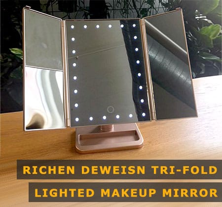 Featured Image of Richen Deweisn Tri-fold Lighted Makeup Mirror