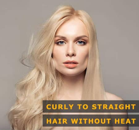 Featured Image of Curly to Straight Hair Without Heat