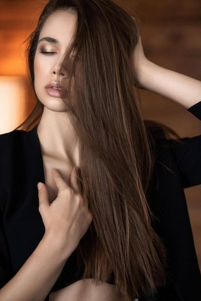Woman with a beautiful hair